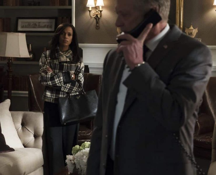"""SCANDAL - """"Army of One"""" - Mellie's plans to name Jake as her new chief of staff only propels Olivia to do whatever it takes to make sure that does not happen. Back at Papa Pope's house, Quinn becomes restless, wondering just how long Rowan intends to keep her and Robin hidden from the outside world. Meanwhile at QPA, Abby, Huck and Charlie decide that it's time to move forward with new clients when their first case leads to surprising intel, on """"Scandal,"""" airing THURSDAY, FEB. 8 (9:00-10:00 p.m. EST), on The ABC Television Network. (ABC/Eric McCandless) KERRY WASHINGTON"""
