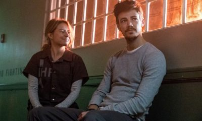 "The Flash -- ""True Colors"" -- Image Number: FLA413a_0159b.jpg -- Pictured (L-R): Sugar-Lyn Beard as Becky/Hazard and Grant Gustin as Barry Allen -- Photo: Katie Yu/The CW -- © 2018 The CW Network, LLC. All rights reserved"
