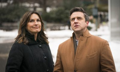 "LAW & ORDER: SPECIAL VICTIMS UNIT -- ""The Undiscovered Country"" Episode 1913 -- Pictured: (l-r) Mariska Hargitay as Lieutenant Olivia Benson, Raul Esparza as A.D.A. Rafael Barba -- (Photo by: Michael Parmelee/NBC)"