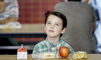 """""""Rockets, Communists, and the Dewey Decimal System""""-- Pictured: Sheldon (Iain Armitage). To appease his worried mother, Sheldon employs the techniques of a self-help book to try and make a friend, when YOUNG SHELDON returns in its new time period, Thursday, Nov. 2 (8:31-9:01 PM, ET/PT) on the CBS Television Network. Photo: Sonja Flemming/CBS ©2017 CBS Broadcasting, Inc. All Rights Reserved."""