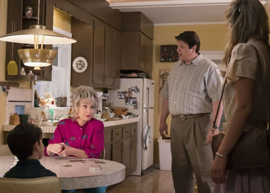 """Poker, Faith, and Eggs""-- Pictured: Meemaw (Annie Potts) and George, Sr. (Lance Barber). When George Sr. is rushed to the emergency room, Meemaw (Annie Potts) comes to babysit, and the kids have an adventure getting to the hospital on their own, when YOUNG SHELDON airs, Thursday Nov. 9 (8:31-9:01 PM, ET/PT) on the CBS Television Network. Photo: Michael Desmond/Warner Bros. Entertainment Inc. © 2017 WBEI. All rights reserved."