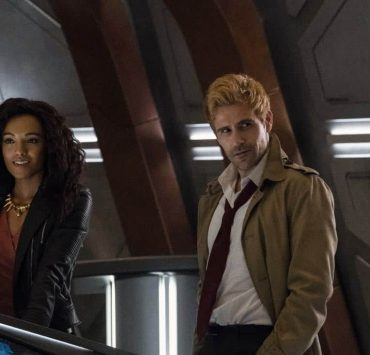 """DC's Legends of Tomorrow -- """"Daddy Darhkest"""" -- Image Number: LGN310a_0646b.jpg -- Pictured (L-R): Maisie Richardson- Sellers as Amaya Jiwe/Vixen and Matt Ryan as Constantine -- Photo: Jeff Weddell/The CW -- © 2018 The CW Network, LLC. All Rights Reserved."""