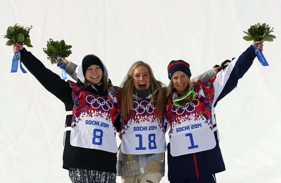 Jamie Anderson Olympics Gold Medal Ceremony