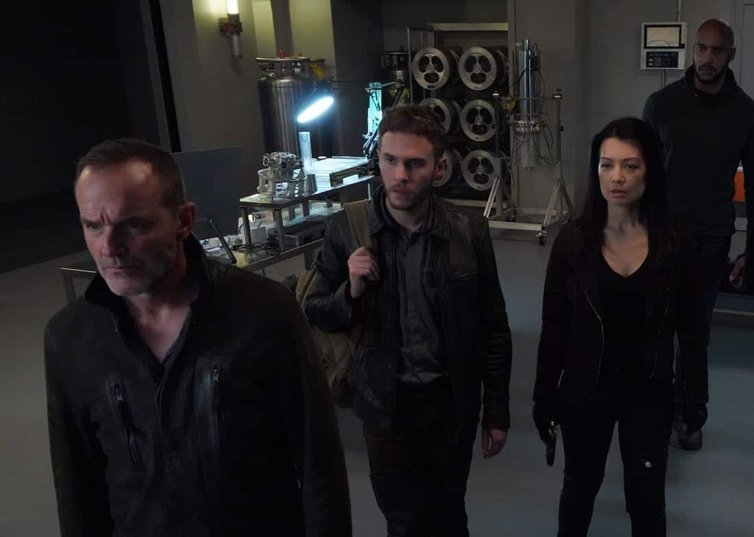 "MARVEL'S AGENTS OF S.H.I.E.L.D. - ""All the Comforts of Home"" - Coulson and team set out to rewrite the course of humanity's fate, but they're unaware that their efforts will dramatically change one S.H.I.E.L.D agent's life, on ""Marvel's Agents of S.H.I.E.L.D.,"" FRIDAY, MARCH 2 (9:01-10:01 p.m. EST), on The ABC Television Network. (ABC/Byron Cohen) CLARK GREGG, IAIN DE CAESTECKER, MING-NA WEN, HENRY SIMMONS"