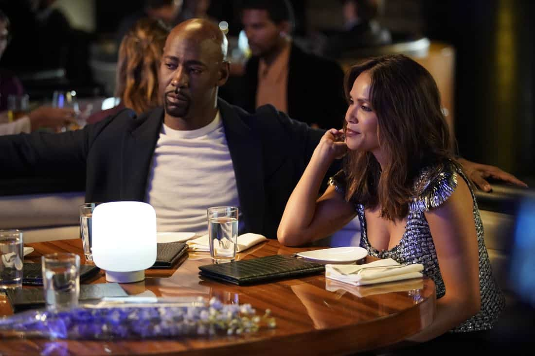 "LUCIFER: L-R: D.B. Woodside and Lesley-Ann Brandt in the ""High School Poppycock"" episode of LUCIFER airing Monday, Feb. 26 (8:00-9:00 PM ET/PT) on FOX. CR: Erik Voake/FOX"