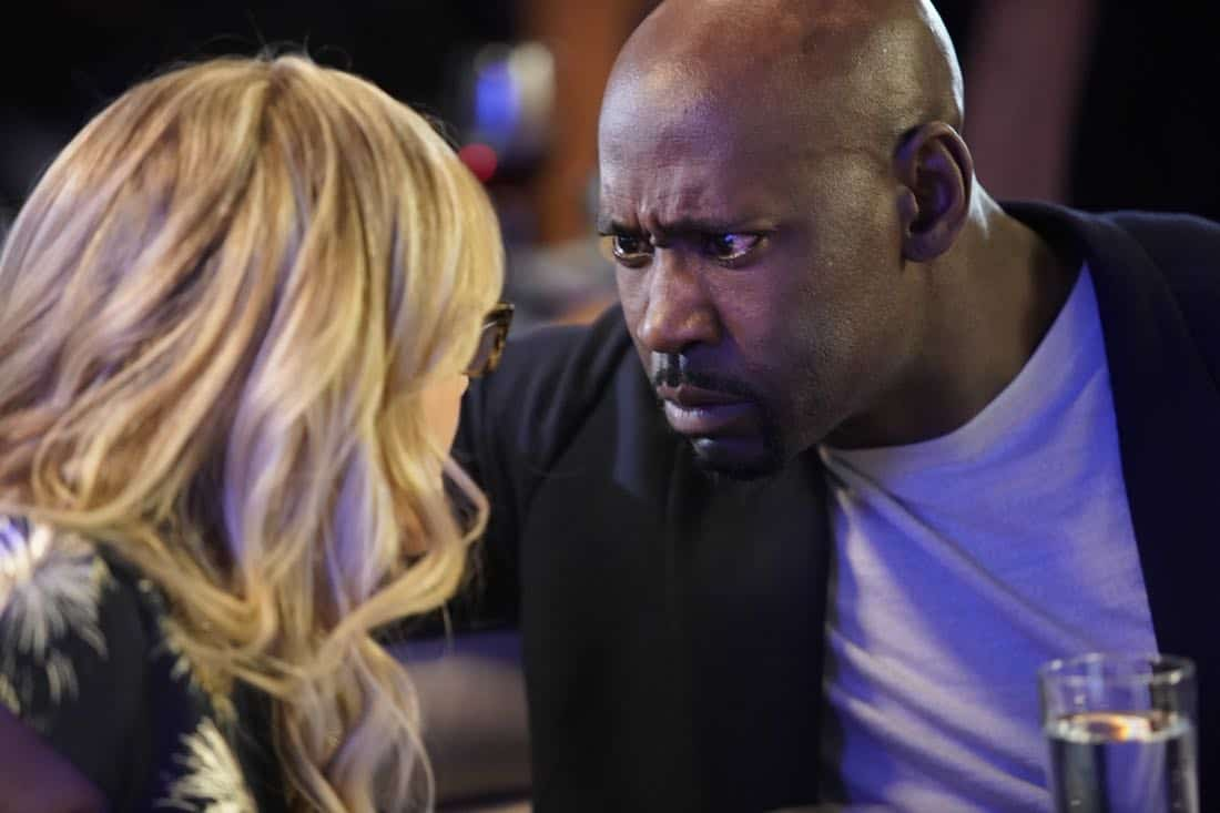 "LUCIFER: L-R: Rachael Harris and D.B. Woodside in the ""High School Poppycock"" episode of LUCIFER airing Monday, Feb. 26 (8:00-9:00 PM ET/PT) on FOX. CR: Erik Voake/FOX"