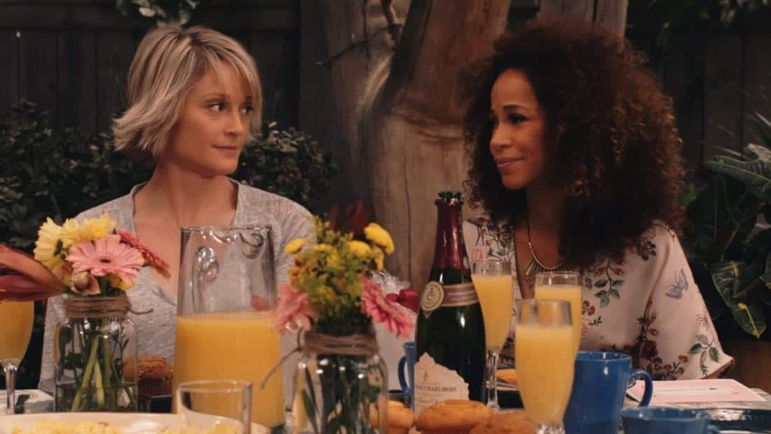 "THE FOSTERS - ""Mother's Day"" - Stef's mom comes to visit and helps Stef cope with a tough time. Meanwhile, Callie and Jude grapple with the memory of their biological mother. This episode of ""The Fosters"" airs Tuesday, February 13 (8:00 - 9:01 p.m. EST) on Freeform. (Freeform) TERI POLO, SHERRI SAUM"