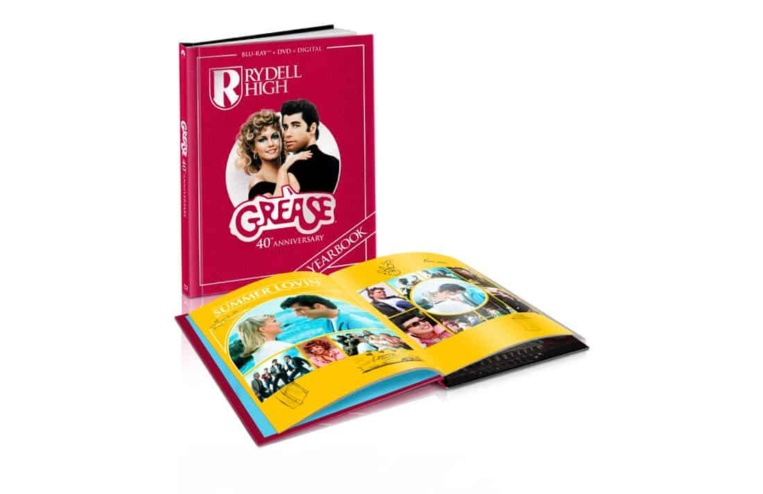 Grease 40th Anniversary Blu-ray Combo Pack With Year Book