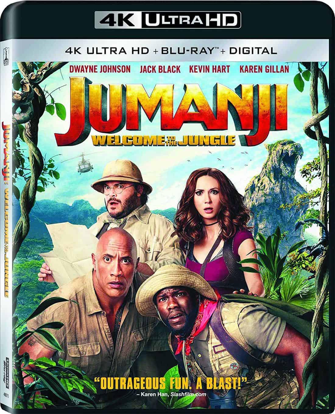 JUMANJI: WELCOME TO THE JUNGLE 4K, Blu-ray And DVD Release