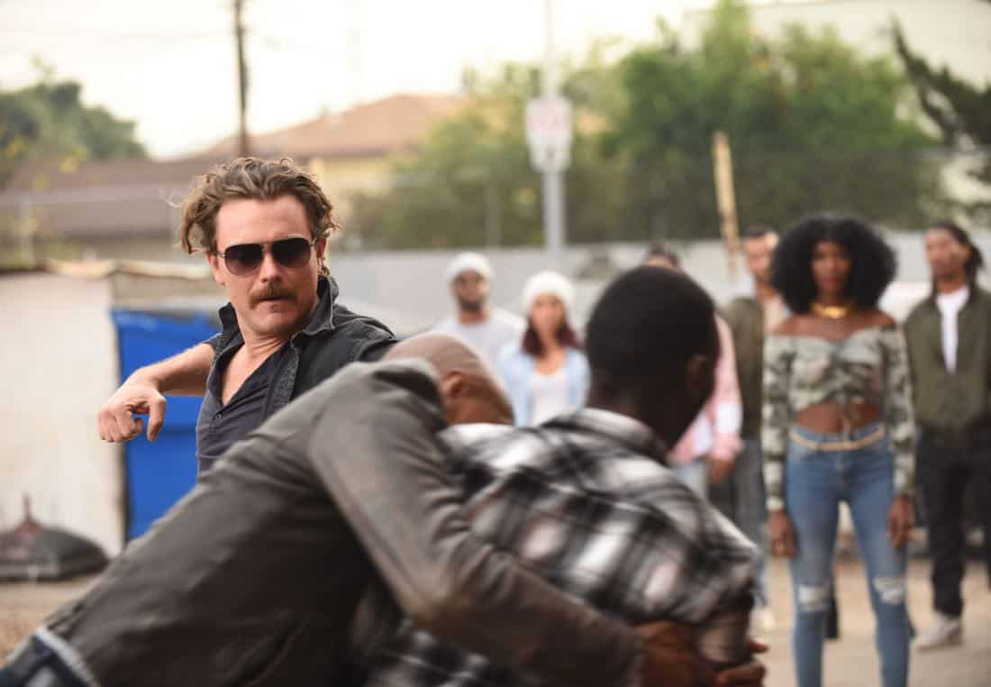 "LETHAL WEAPON: Clayne Crawford (L) in the ""Ruthless"" episode of LETHAL WEAPON airing Tuesday, Feb. 27 (8:00-9:00 PM ET/PT) on FOX. ©2018 Fox Broadcasting Co. CR: Ray Mickshaw/FOX"