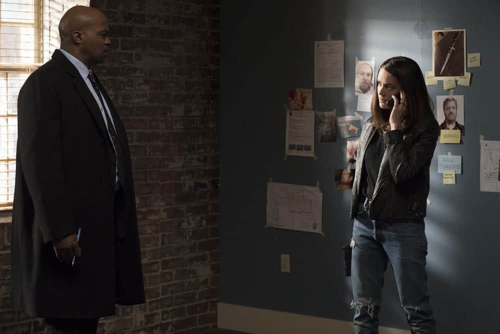 "THE BLACKLIST -- ""Mr. Raleigh Sinclair III (#51)"" Episode 514 -- Pictured: (l-r) Evan Parke as Norman Singleton, Megan Boone as Elizabeth Keen -- (Photo by: Virginia Sherwood/NBC)"