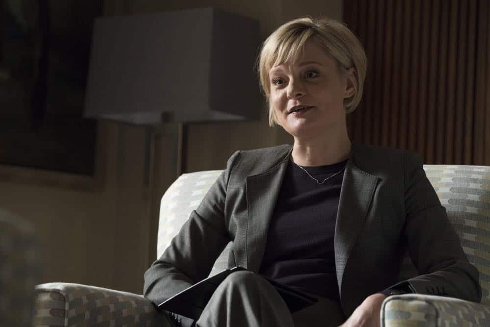 "THE BLACKLIST -- ""Mr. Raleigh Sinclair III (#51)"" Episode 514 -- Pictured: Martha Plimpton as Dr. Sharon Fulton -- (Photo by: Virginia Sherwood/NBC)"