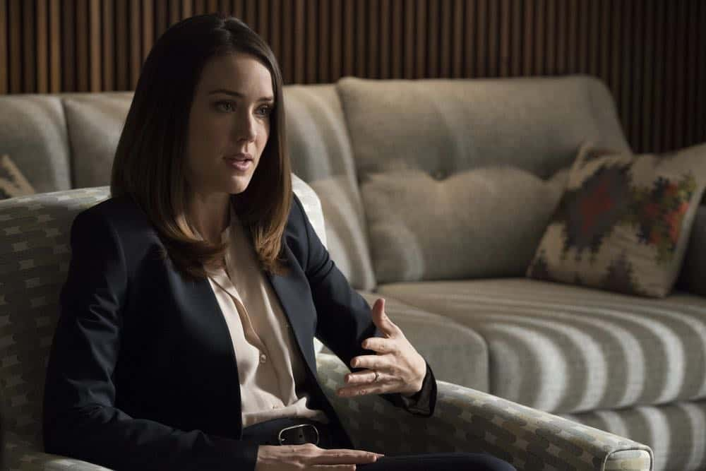 "THE BLACKLIST -- ""Mr. Raleigh Sinclair III (#51)"" Episode 514 -- Pictured: Megan Boone as Elizabeth Keen -- (Photo by: Virginia Sherwood/NBC)"