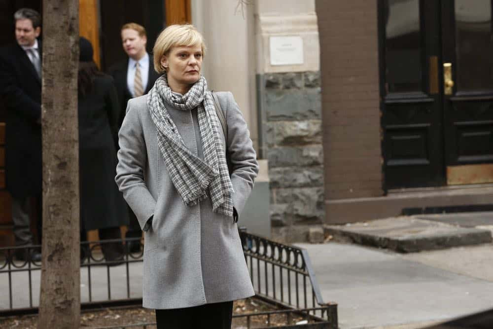 "THE BLACKLIST -- ""Mr. Raleigh Sinclair III (#51)"" Episode 514 -- Pictured: Martha Plimpton as Dr. Sharon Fulton -- (Photo by: Will Hart/NBC)"