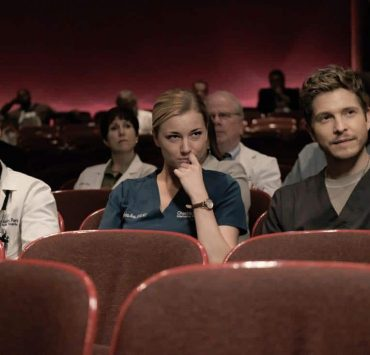 """THE RESIDENT: L-R: Manish Dayal, Emily VanCamp and Matt Czuchry in the """"None the Wiser"""" episode of THE RESIDENT airing Monday, Feb. 26 (9:00-10:00 PM ET/PT) on FOX. ©2018 Fox Broadcasting Co. Cr: Guy D'Alema/FOX"""