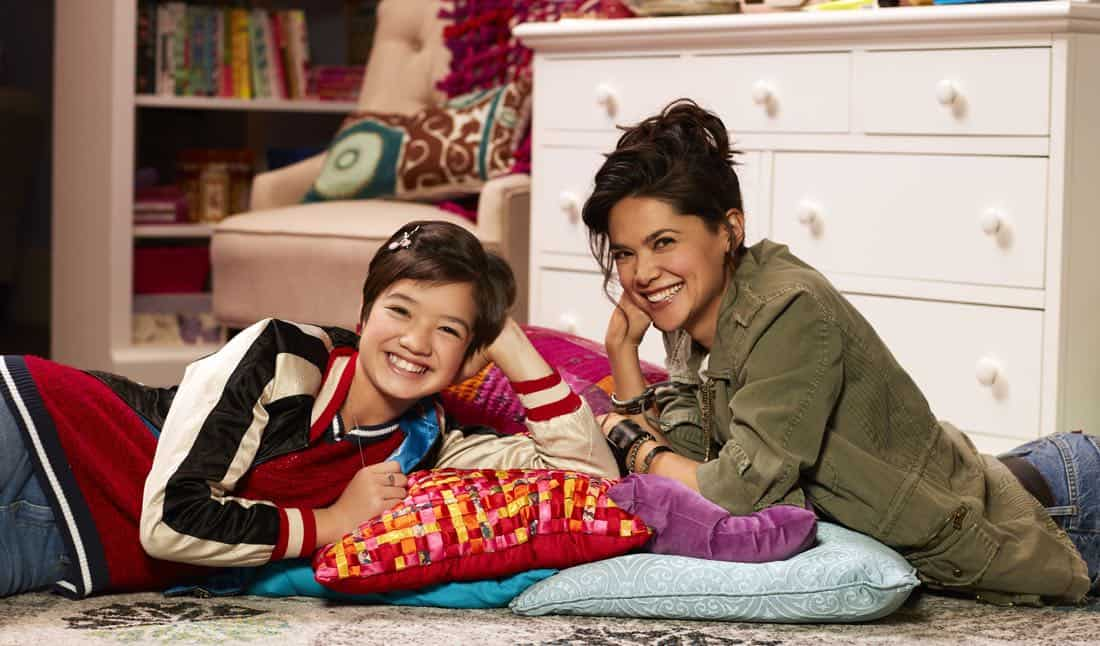 "ANDI MACK - Disney Channel's ""Andi Mack"" stars Peyton Elizabeth Lee as Andi and Lilan Bowden as Bex. (Disney Channel/Craig Sjodiin)"