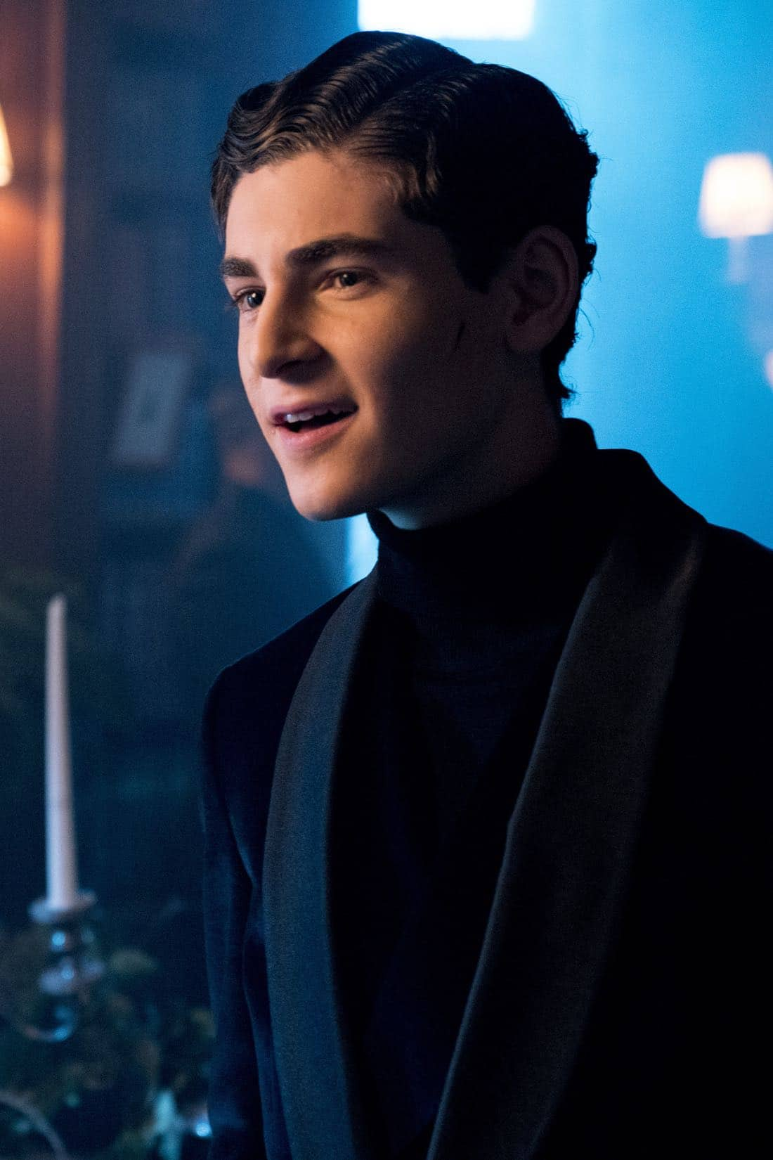 "GOTHAM: David Mazouz in the ""A Dark Knight: A Beautiful Darkness"" episode of GOTHAM airing Thursday, March 8 (8:00-9:00 PM ET/PT) on FOX.  ©2018 Fox Broadcasting Co. Cr: David Giesbrecht/FOX"
