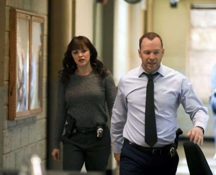 """""""Tale of Two CitiesÓ Ð Danny and Baez investigate the murder of a man who was living a double life with two separate families, and Anthony tries to resist when Erin asks him to help investigate his old partner, whom she suspects of stealing drug money. Also, Frank deliberates between two candidates for the chief of transit position, on BLUE BLOODS, Friday, March 9 (10:00-11:00 PM, ET/PT) on the CBS Television Network. Pictured: Marisa Ramirez, Donnie Wahlberg. Photo: Craig Blankenhorn/CBS ©2017CBS Broadcasting Inc. All Rights Reserved."""