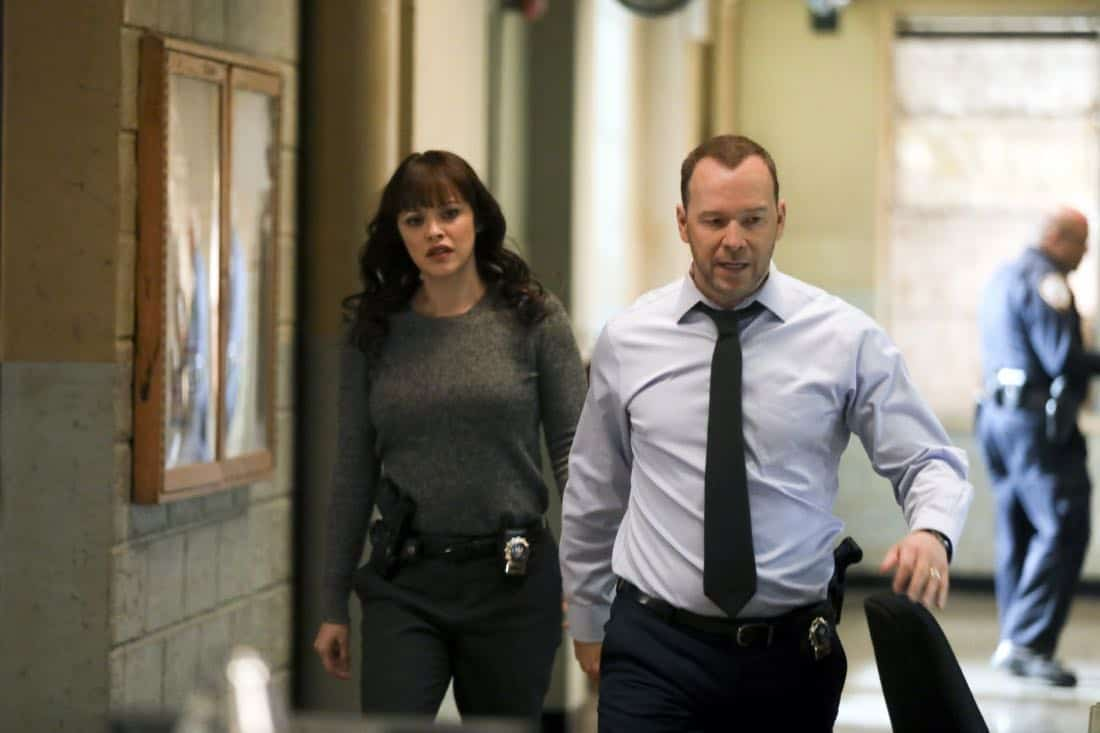 """Tale of Two CitiesÓ Ð Danny and Baez investigate the murder of a man who was living a double life with two separate families, and Anthony tries to resist when Erin asks him to help investigate his old partner, whom she suspects of stealing drug money. Also, Frank deliberates between two candidates for the chief of transit position, on BLUE BLOODS, Friday, March 9 (10:00-11:00 PM, ET/PT) on the CBS Television Network. Pictured: Marisa Ramirez, Donnie Wahlberg. Photo: Craig Blankenhorn/CBS ©2017CBS Broadcasting Inc. All Rights Reserved."