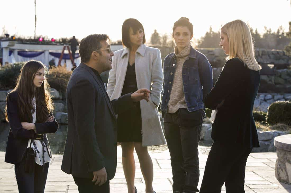 UnREAL */ (L to R) Craig Bierko, Constance Zimmer, Shiri Appleby and Caitlin FitzGerald star in Season 3 of Lifetime's hit drama UnREAL, airing Monday, March 5, 2018 at 10pm ET/PT. Photo by James Dittiger Copyright 2018