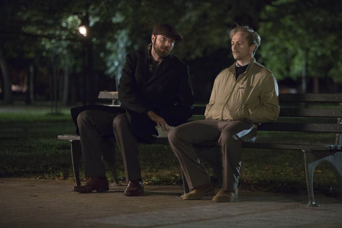 "THE AMERICANS -- ""Dead Hand"" -- Season 6, Episode 1 (Airs Wednesday, March 28, 10:00 pm/ep) -- Pictured: (l-r) Costa Ronin as Oleg Burov, Matthew Rhys as Philip Jennings. CR: Eric Liebowitz/FX"