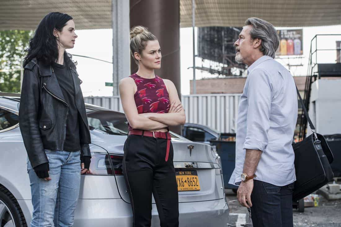 Krysten Ritter, Rachael Taylor and James McCaffrey Marvel's Jessica Jones Season 2 | Photo Credit : David Giesbrecht/Netflix