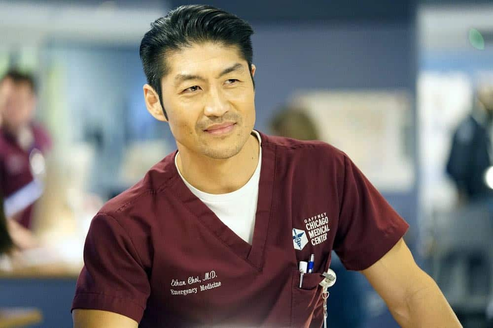 "CHICAGO MED -- ""Folie À Deux"" Episode 311 -- Pictured: Brian Tee as Ethan Choi -- (Photo by: Elizabeth Sisson/NBC)"