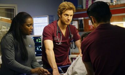 "CHICAGO MED -- ""Folie À Deux"" Episode 311 -- Pictured: (l-r) Marlyne Barrett as Maggie Lockwood, Nick Gehlfuss as Will Halstead -- (Photo by: Elizabeth Sisson/NBC)"