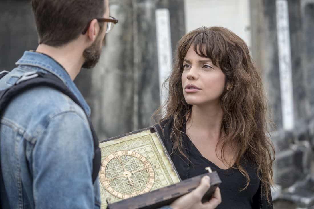 """""""Treasure Hunt"""" -- During the annual Contraband Days pirate festival, the NCIS team investigates the murder of a Navy captain who was searching for a valuable 200-year-old marble and gold fleur-de-lis, on NCIS: NEW ORLEANS, Tuesday, March 13 (10:00-11:00 PM, ET/PT) on the CBS Television Network. Pictured L-R: Rob Kerkovich as Forensic Scientist Sebastian Lund and Vanessa Ferlito as FBI Special Agent Tammy Gregorio Photo: Skip Bolen/CBS ©2018 CBS Broadcasting, Inc. All Rights Reserved"""