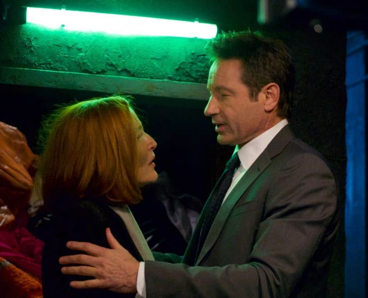 """THE X-FILES: L-R: Gillian Anderson and David Duchovny in the """"Nothing Lasts Forever"""" episode of THE X-FILES airing Wednesday, March 14 (8:00-9:00 PM ET/PT) on FOX. ©2018 Fox Broadcasting Co. Cr: Shane Harvey/FOX"""