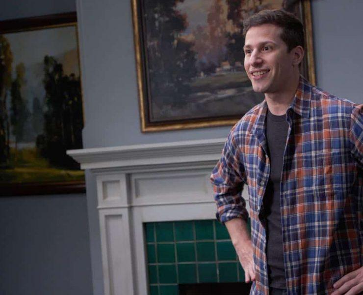 "BROOKLYN NINE-NINE: Andy Samberg in the ""Safe House"" spring premiere episode of BROOKLYN NINE-NINE airing Sunday, March 18 (8:30-9:00 PM ET/PT) on FOX.CR: John P Fleenor/ FOX"