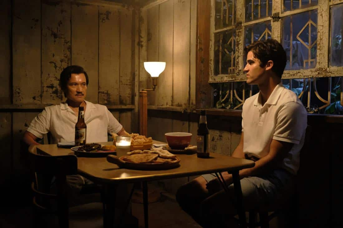 """THE ASSASSINATION OF GIANNI VERSACE: AMERICAN CRIME STORY """"Creator/Destroyer"""" Episode 8 (Airs Wednesday, March 14, 10:00 p.m. e/p) -- Pictured: (l-r) Jon Jon Briones as Modesto Cunanan, Darren Criss as Andrew Cunanan. CR: Ray Mickshaw/FX"""