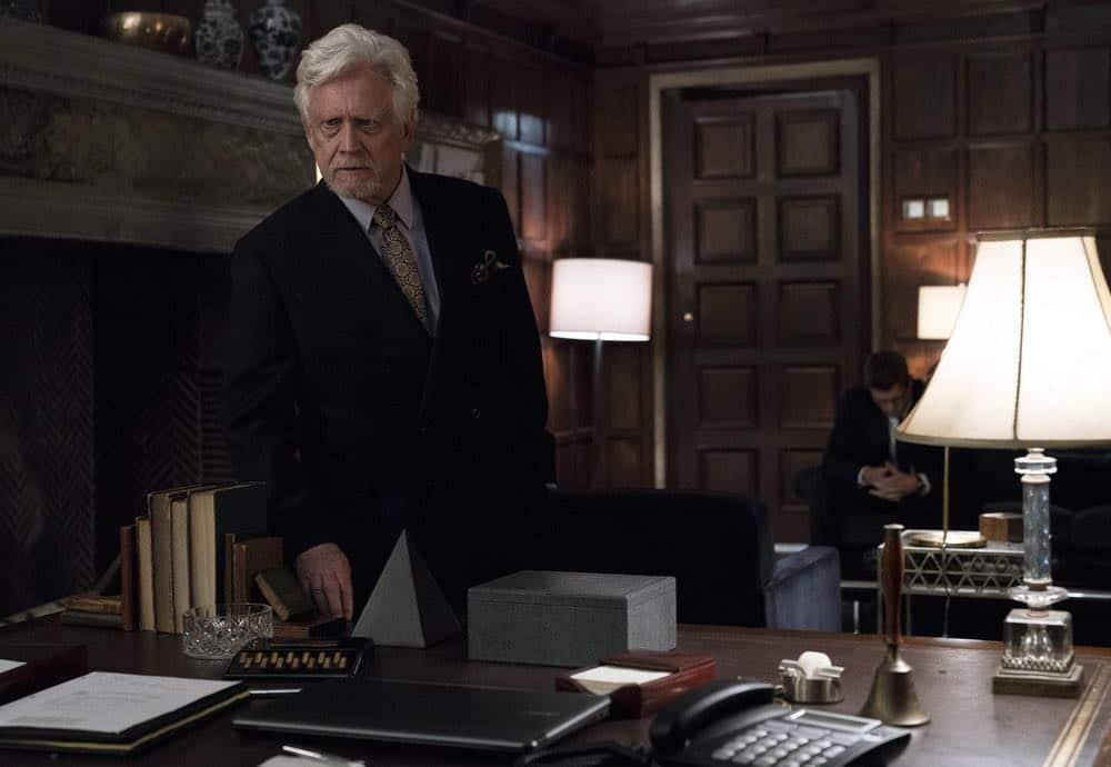 "BLINDSPOT -- ""Deductions"" Episode 315 --  Pictured: Bruce Davison as Jean-Paul Bruyere -- (Photo by: David Giesbrecht/NBC)"