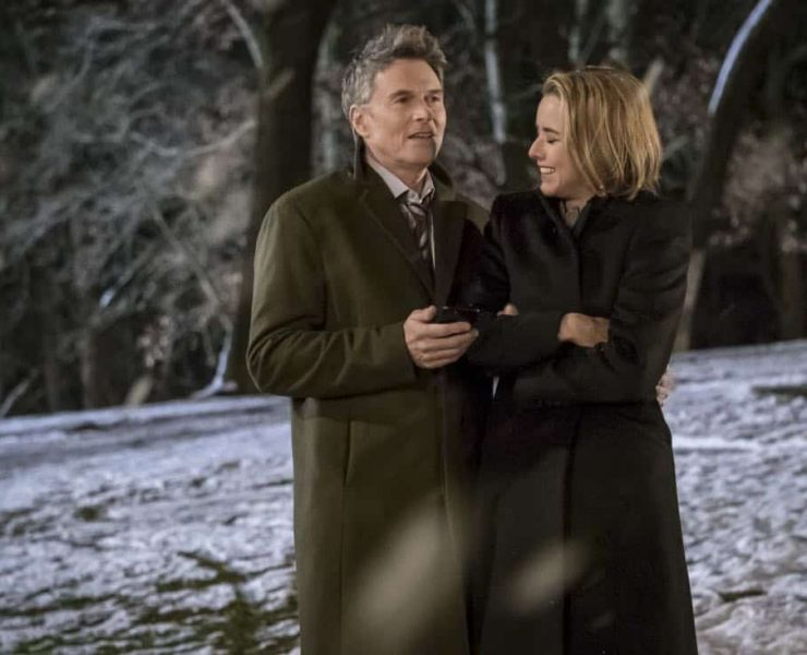 """""""Reading the Signs"""" -- Elizabeth seeks creative solutions when the president of Sri Lanka's psychic convinces him to not move forward with a trade agreement with the U.S. Also, Alison grapples with guilt for missing the warning signs after her college roommate attempts suicide, and Henry makes an abrupt career decision, on MADAM SECRETARY, Sunday, March 11 (10:00-11:00 PM, ET/PT) on the CBS Television Network. Pictured (L-R): Tim Daly as Henry McCord and Téa Leoni as Elizabeth McCord. Photo: Jeff Neumann/CBS ©2018 CBS Broadcasting, Inc. All Rights Reserved"""