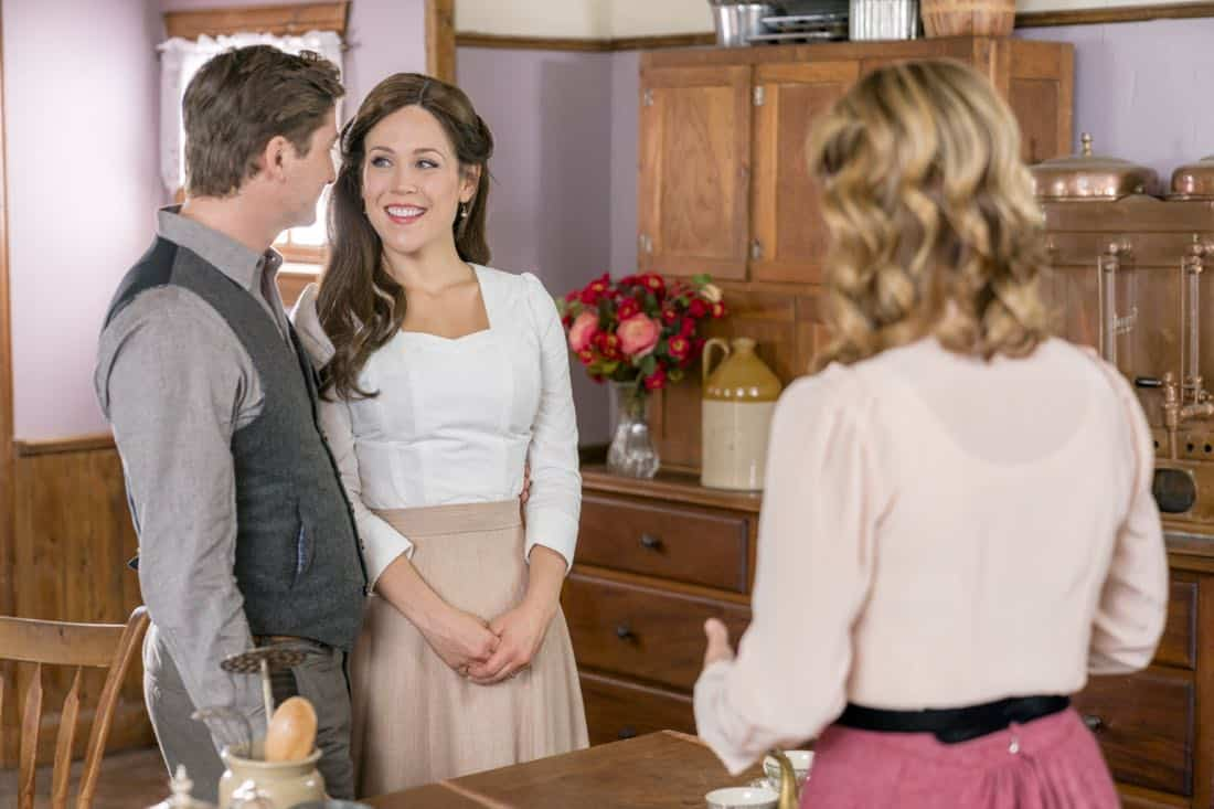 Jack and Elizabeth's plan to get married is put in serious jeopardy.  Bill has difficulties transporting a prisoner.  Photo: Daniel Lissing, Erin Krakow, Lori Loughlin  Credit: Copyright 2018 Crown Media United States LLC/Photographer: Ricardo Hubbs