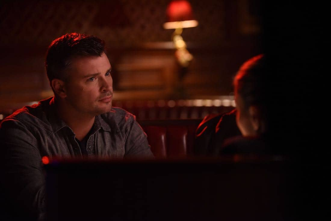 "LUCIFER: Tom Welling in the ""The Last Heartbreak"" episode of LUCIFER airing Monday, March 19 (8:00-9:00 PM ET/PT) on FOX. CR: Ray MickshawFOX"