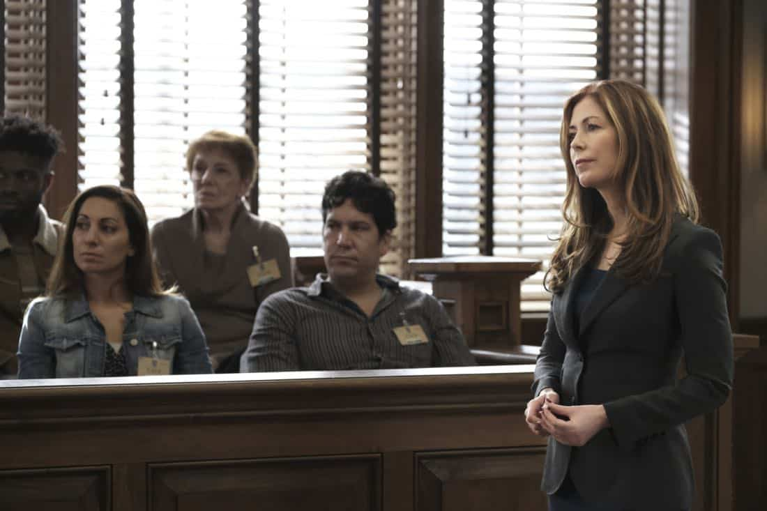"""Bad Medicine"" -- Bull helps a doctor who crossed state lines to purchase a marijuana-derived oil to treat her patients in Virginia, where the oil is illegal. But the case is complicated when Assistant U.S. Attorney Sylvia Banner (Dana Delany) has the DEA arrest her for possession with intent to distribute, on BULL, Tuesday, March 27 (9:00-10:00PM, ET/PT), on the CBS Television Network. Pictured: Dana Delany as Sylvia Banner Photo: Jojo Whilden/CBS ©2018 CBS Broadcasting, Inc. All Rights Reserved"