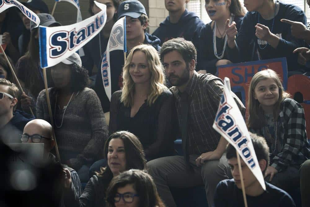 "RISE -- ""Pilot"" Episode 101 -- Pictured: (l-r) Marley Shelton as Gail Mazzuchelli, Josh Radnor as Lou Mazzuchelli -- (Photo by: Peter Kramer/NBC)"
