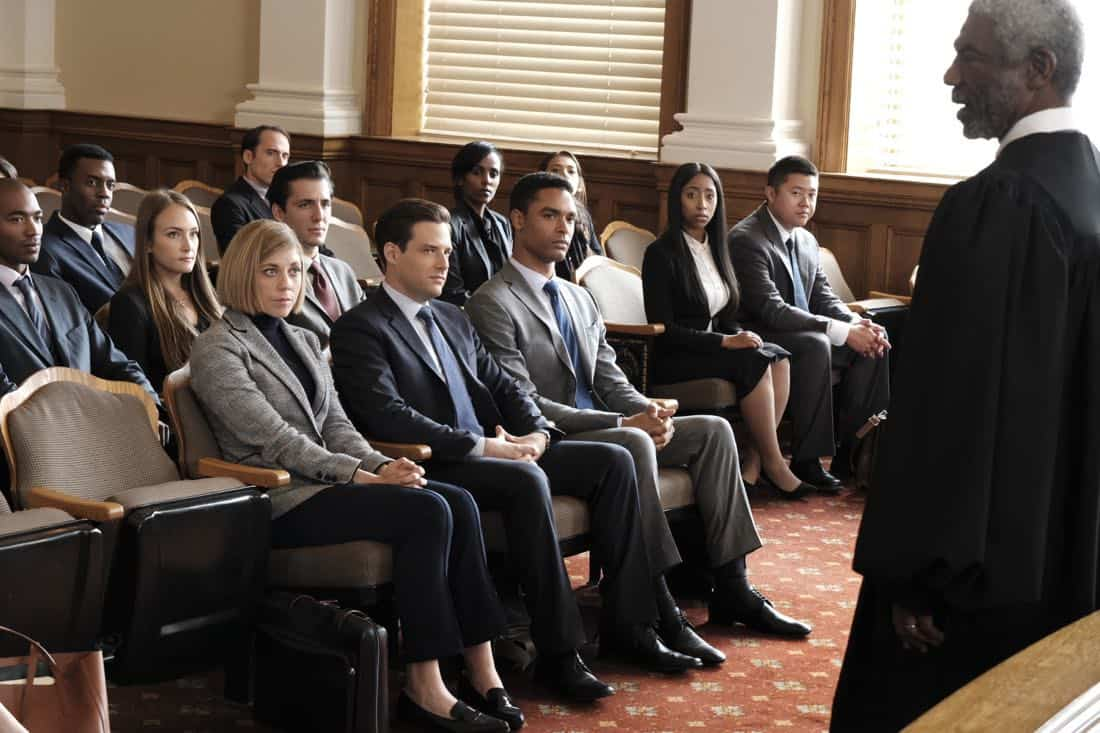 "FOR THE PEOPLE - ""Pilot"" - Set in the United States District Court for the Southern District of New York (a.k.a. ""The Mother Court""), the new Shondaland series follows six talented young lawyers working on opposite sides of the law and handling the most high-profile and high-stakes federal cases in the country. These lawyers will be put to the test both personally and professionally as their lives intersect in and out of America's most prestigious trial court, on ""For The People,"" TUESDAY, MARCH 13 (10:00-11:00 p.m. EDT), on The ABC Television Network. (ABC/Nicole Wilder) SUSANNAH FLOOD, BEN RAPPAPORT, REGÉ-JEAN PAGE, VONDIE CURTIS-HALL"