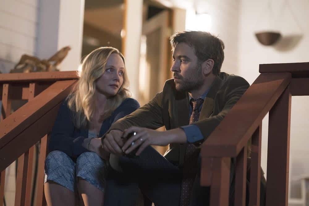 "RISE -- ""Most of All to Dream"" Episode 102 -- Pictured: (l-r) Marley Shelton as Gail Mazzuchelli, Josh Radnor as Lou Mazzuchelli -- (Photo by: Peter Kramer/NBC)"