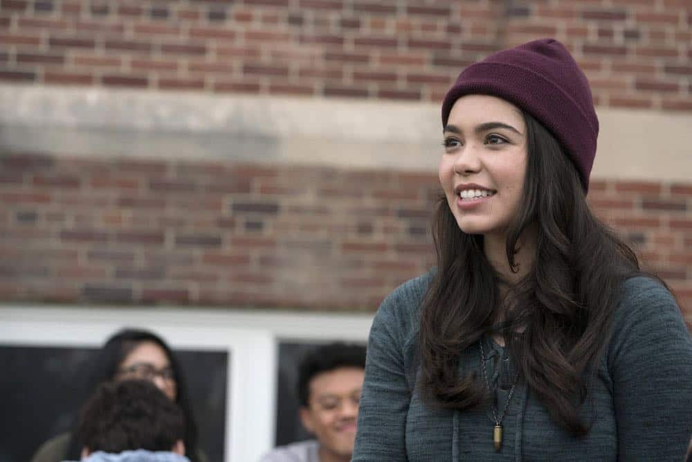"RISE -- ""Most of All to Dream"" Episode 102 -- Pictured: Auli'i Cravalho as Lilette Suarez -- (Photo by: Peter Kramer/NBC)"