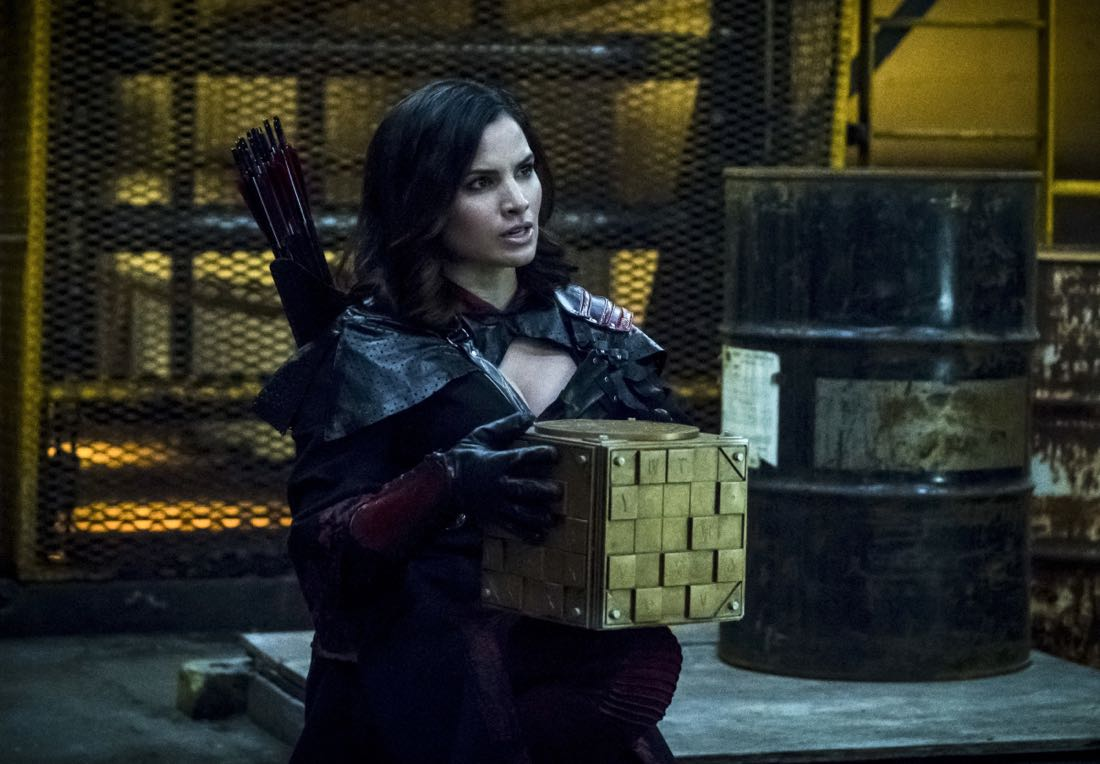 "Arrow -- ""The Thanatos Guild"" -- Image Number: AR616b_0110.jpg -- Pictured: Katrina Law as Nyssa Al-Ghul -- Photo: Katie Yu/The CW -- © 2018 The CW Network, LLC. All rights reserved."