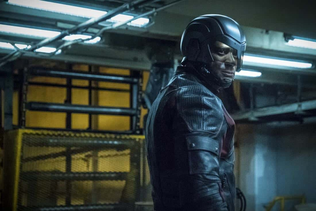 "Arrow -- ""The Thanatos Guild"" -- Image Number: AR616b_0291.jpg -- Pictured: David Ramsey as John Diggle/Spartan -- Photo: Katie Yu/The CW -- © 2018 The CW Network, LLC. All rights reserved."