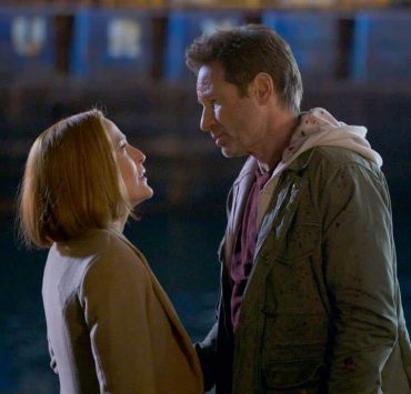 """THE X-FILES: L-R: Gillian Anderson and David Duchovny in the """"My Struggle IV"""" season finale episode of THE X-FILES airing Wednesday, March 21 (8:00-9:00 PM ET/PT) on FOX. ©2018 Fox Broadcasting Co. Cr: Shane Harvey/FOX"""