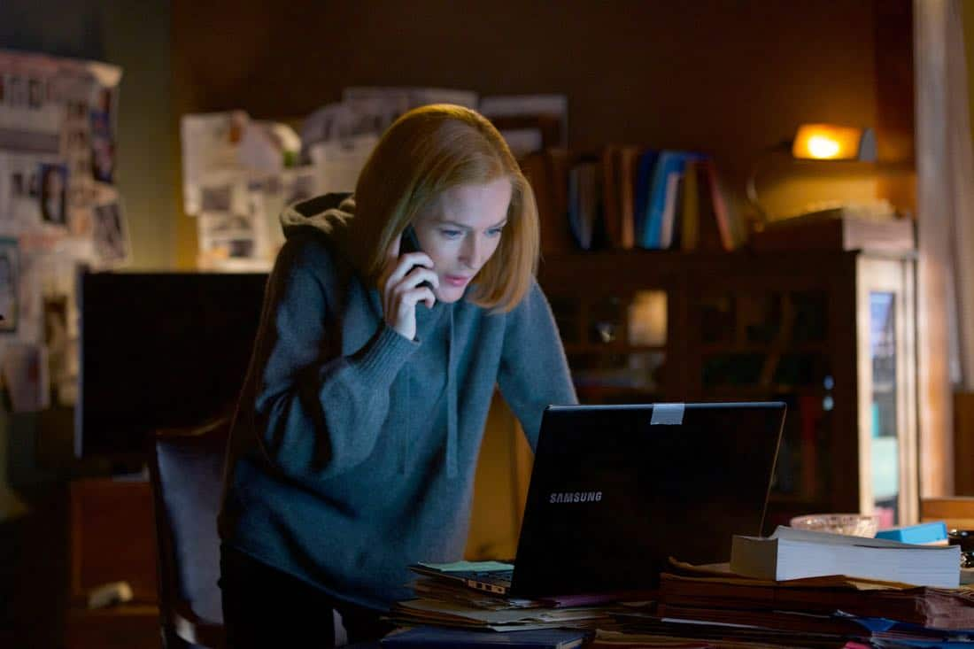 """THE X-FILES:  Gillian Anderson in the """"My Struggle IV"""" season finale episode of THE X-FILES airing Wednesday, March 21 (8:00-9:00 PM ET/PT) on FOX. ©2018 Fox Broadcasting Co.  Cr:  Shane Harvey/FOX"""