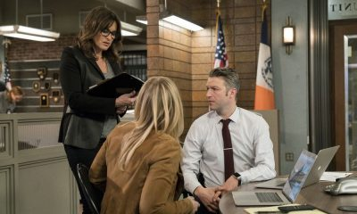 "LAW & ORDER: SPECIAL VICTIMS UNIT -- ""Send in the Clowns"" Episode 1917 -- Pictured: (l-r) Mariska Hargitay as Lieutenant Olivia Benson, Peter Scanavino as Dominick ""Sonny"" Carisi -- (Photo by: David Giesbrecht/NBC)"