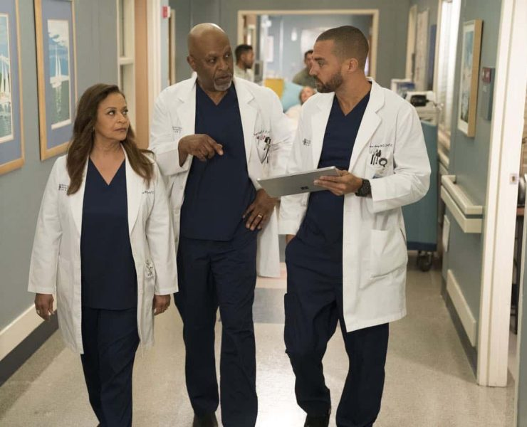 "GREY'S ANATOMY - ""Caught Somewhere in Time"" - Maggie and Jackson are enjoying spending time together, but he must turn his concentration toward the groundbreaking vaginoplasty surgery he has scheduled with Catherine and Richard. Meanwhile, Meredith and Jo hit a roadblock with their contest submission, so Jo helps Bailey with an incoming trauma patient who used to be an astronaut, on ""Grey's Anatomy,"" THURSDAY, MARCH 22 (8:00-9:00 p.m. EDT), on The ABC Television Network. (ABC/Mitch Haaseth) DEBBIE ALLEN, JAMES PICKENS JR., JESSE WILLIAMS"