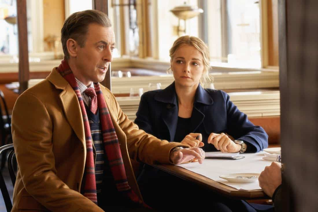 """""""Pilot""""-- Former CIA operative Dr. Dylan Reinhart (Alan Cumming) is lured back to his old life when NYPD detective Lizzie Needham (Bojana Novakovic) needs his help to stop a serial killer, on the series premiere of INSTINCT, Sunday, March 18 (8:00-9:00, ET/PT) on the CBS Television Network.  Pictured (l-r) Alan Cumming as Dr. Dylan Reinhart  and  Bojana Novakovic as Det. Lizzie Needham   Photo: Jonathan Wenk /CBS © 2017 CBS Broadcasting Inc. All Rights Reserved."""