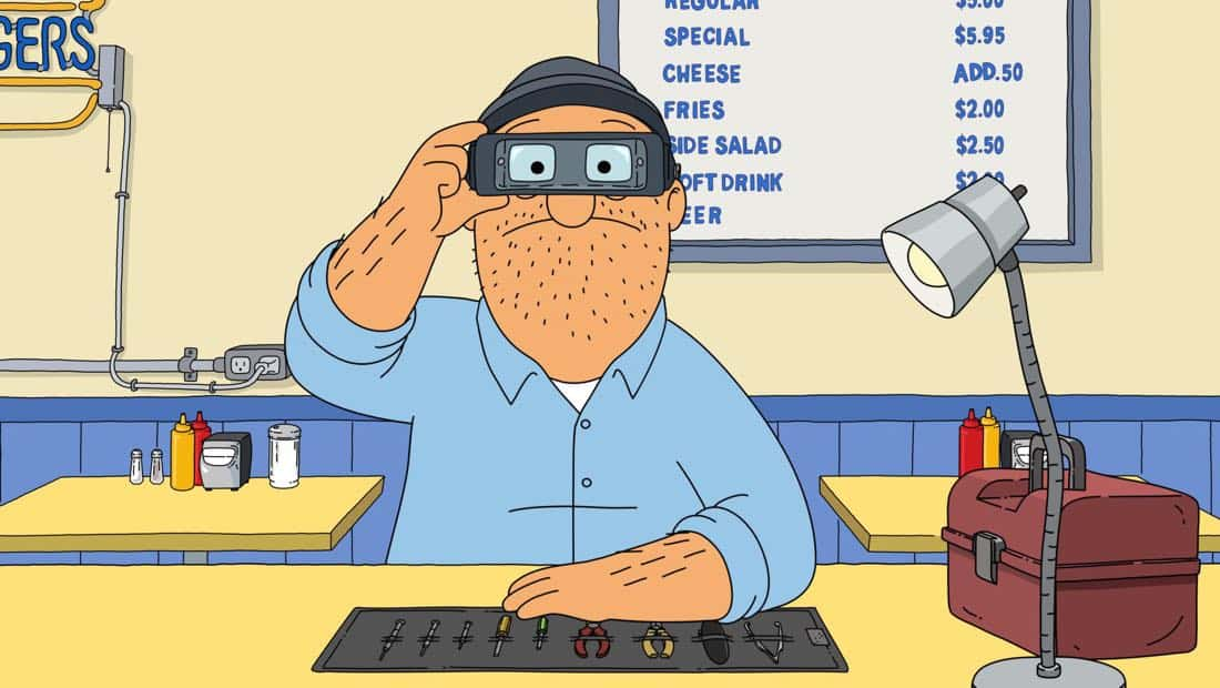 """BOB'S BURGERS: Teddy starts a phone repair service in the """"The Secret Ceramics Room of Secrets"""" episode of BOB'S BURGERS airing Sunday, Mar. 18 (7:00-7:30PM ET/PT) on FOX. BOB'S BURGERS ™ and © 2018 TCFFC ALL RIGHTS RESERVED. CR: FOX"""