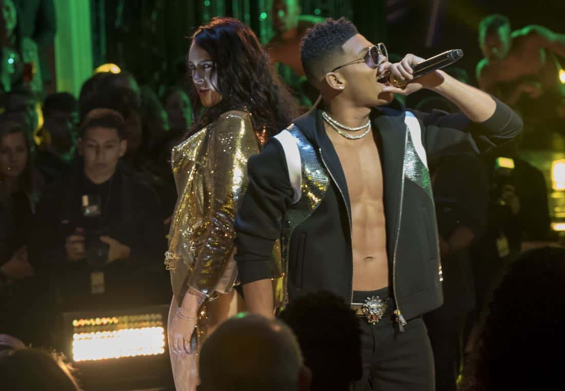 "EMPIRE: Pictured L-R: Guest star Rumor Willis and Bryshere Gray in the ""Birds in the Cage"" Spring premiere episode of EMPIRE airing Wednesday, March 28 (8:00-9:00 PM ET/PT) on FOX. ©2018 Fox Broadcasting Co. CR: Chuck Hodes/FOX"